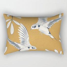 Swallows 02 Rectangular Pillow