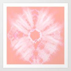 Tie Dye Pink Art Print
