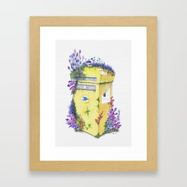 Growth on MailBox | Surrealistic Watercolor Painting by Stephanie Kilgast Framed Art Print