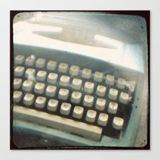 Blue Typewriter TTV Canvas Print