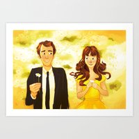 pushing daisies Art Prints featuring Pushing Daisies by AngHuiQing