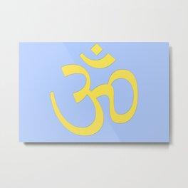 hindy om (aum)  symbol Metal Print
