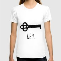 key T-shirts featuring Key. by Ida Christine