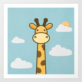 Kawaii Cute Giraffe Art Print