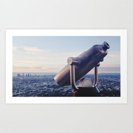 Watching over Los Angeles Art Print
