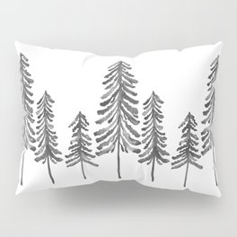 Pine Trees – Black Ink Pillow Sham