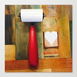 letterpress LOVE Canvas Print