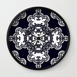 White lace 2 Wall Clock
