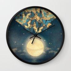 The Rising Moon Wall Clock