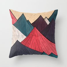 Vintage Mounts Throw Pillow