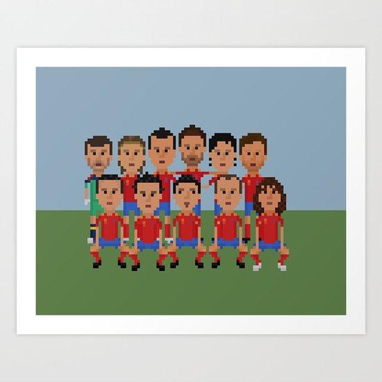 Spain World Cup Champions 2012 Art Print