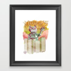 Mecha Catzilla Framed Art Print