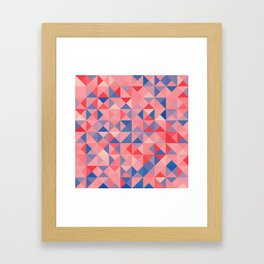 colorful Triangles 1 Framed Art Print