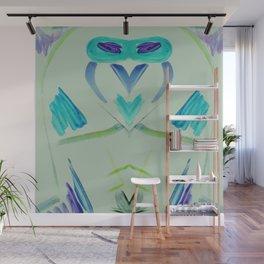 Owl Rocket Wall Mural