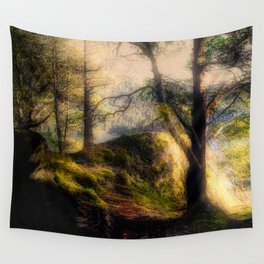 Misty Solitude, The Way Through The Woods Wall Tapestry