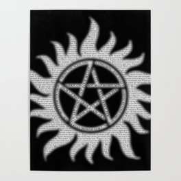 Carry On Supernatural Pentacle Poster
