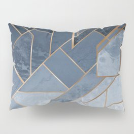 Blue and gold geometric pattern Pillow Sham