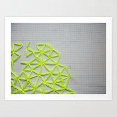 Neon Geometric 2 Art Print