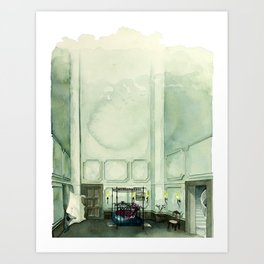 LEMONADE. Hold Up song. The aquarium room. Watercolor perspective view Art Print