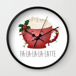 Fa-la-la-la-latte Wall Clock