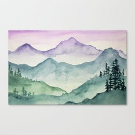 Hills and Valleys Canvas Print