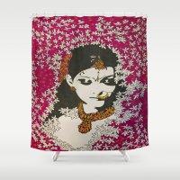 jasmine Shower Curtains featuring Jasmine by LunaLunaRiotGirl
