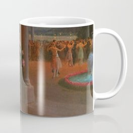 Classical Masterpiece 'Evening on the Terrace' by Delphin Enjolras Coffee Mug