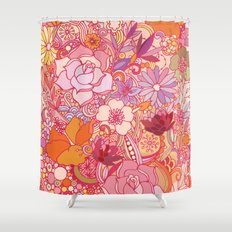 Detailed summer floral pattern Shower Curtain
