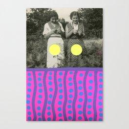 Neon Daisies Canvas Print