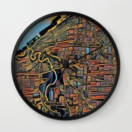 Cleveland Color Wall Clock