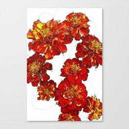 October Marigolds Canvas Print