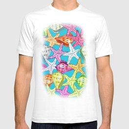 Seashells and sea stars T-shirt