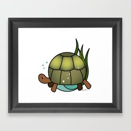 Turtle in a Circle Framed Art Print