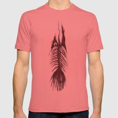 The Fishy Eskeleto LARGE Mens Fitted Tee Pomegranate