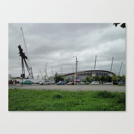 Etihad Stadium and the Last of the B of the Bang Canvas Print