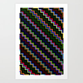 Pixel Split no.4 Art Print