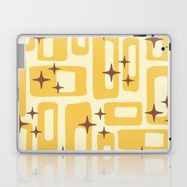 Retro Mid Century Modern Abstract Pattern 577 Yellow Brown Laptop & iPad Skin
