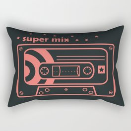 Pink Retro Mix Cassette Rectangular Pillow