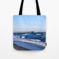 boardwalk empire Tote Bags featuring Boardwalk by Raffaella315