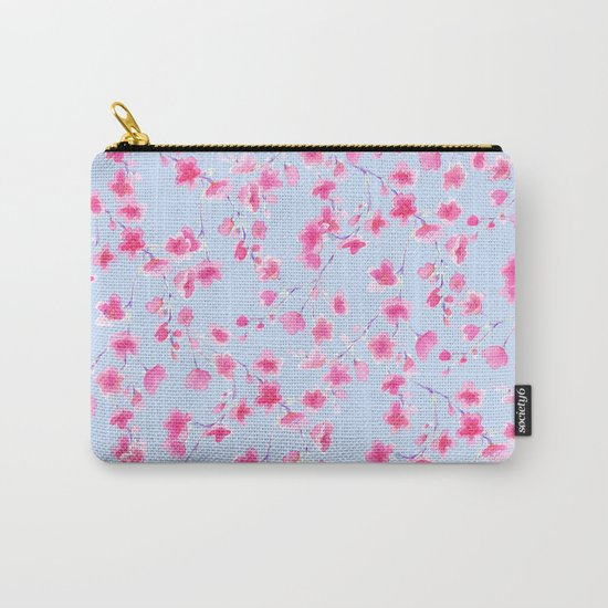 Cherry Blossoms Periwinkle (For Mackenzie) Carry-All Pouch