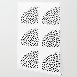 Water color pattern - black Wallpaper