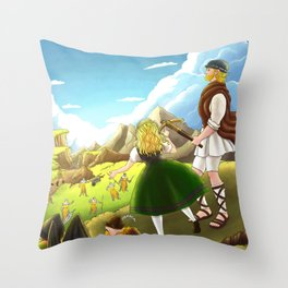William Tell Freedom Fighter Throw Pillow