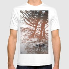 Trees MEDIUM White Mens Fitted Tee
