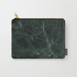 Dark Green Marble Texture Stone Carry-All Pouch