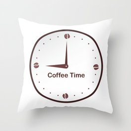 It is the Coffee time - I love Coffee Throw Pillow