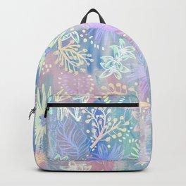 Eden Floral Pastel Blue Backpack