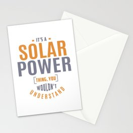 Solar Power Thing Stationery Cards