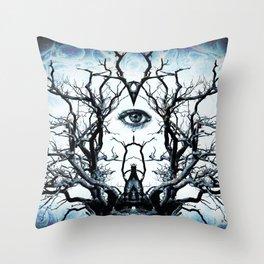 Tree of Life Archetype Religious Symmetry Throw Pillow