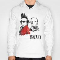 mozart Hoodies featuring Mozart Punk by viva la revolucion