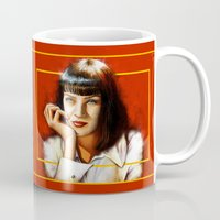 mia wallace Mugs featuring Mia Thurman by Shana-Lee